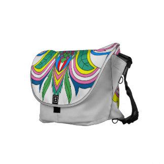 Abstrakt färgrik messenger bag