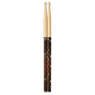abstrakt färgrika drumsticks trumpinnar