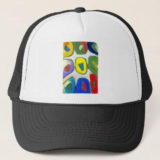 Abstrakt färgrika nio musor keps