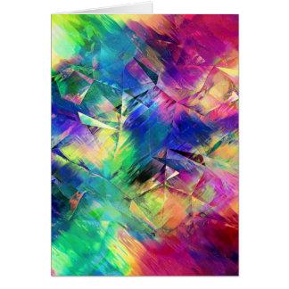 Abstrakt färgrika Shapar och strukturer Hälsningskort