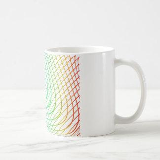 Abstrakt färgrikt tidlöst linjermönster kaffemugg