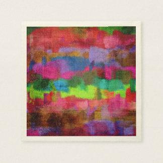 Abstrakt färgrikt vattenfärgmönster papper servetter