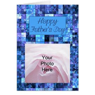 Abstrakt fars dagfotokort hälsningskort