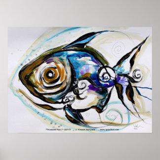 Abstrakt fiskaffisch/design vid VinnyFish Poster