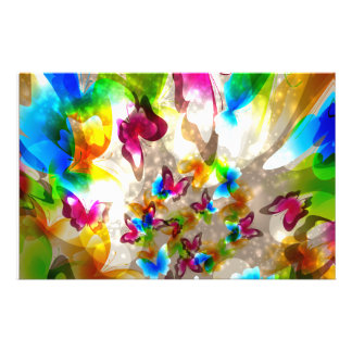 Abstrakt fjärilar brevpapper