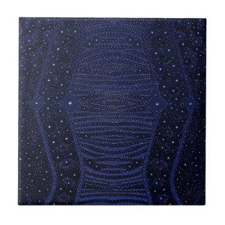 Abstrakt för blåttglittersebra kakelplatta