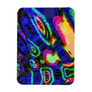 Abstrakt för blåttsvartgult magnet