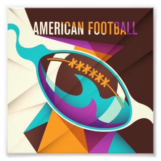 Abstrakt för boll för amerikanfotbollsport fototryck