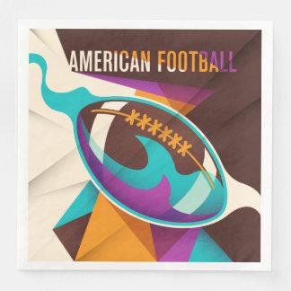 Abstrakt för boll för amerikanfotbollsport servetter