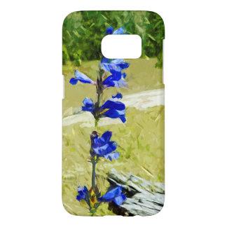 Abstrakt för Carys Beardtongue blåttvildblomma Galaxy S5 Skal