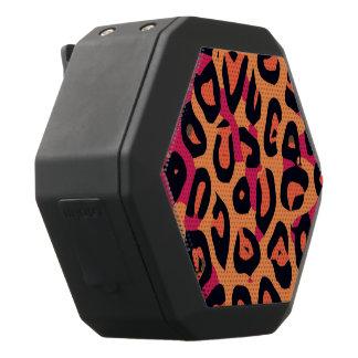 Abstrakt för Cheetah för mörk rosagult orange Svart Bluetooth Högtalare