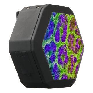 Abstrakt för Cheetah för neongröntblått Svart Bluetooth Högtalare