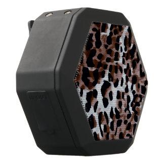 Abstrakt för Cheetah för vitsvartbrunt Svart Bluetooth Högtalare