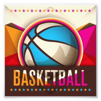 Abstrakt för coola för basketsportbollspel fototryck