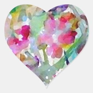 Abstrakt för CricketDiane Hjärtformat Klistermärke