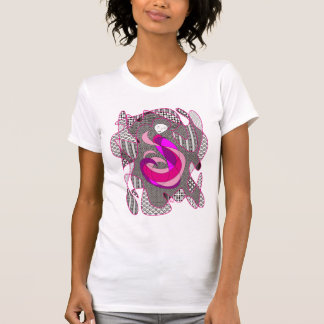 Hidden Passion Woman Pink Hair Abstract Geometric