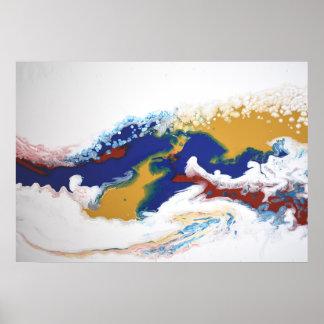 Abstrakt för konst för akryl för marmor för poster
