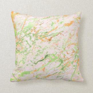 Abstrakt för marmorlyx för ny Mint rosa guld- Kudde