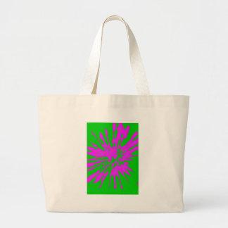 Abstrakt för rosor för stänkmönstergrönt tote bags