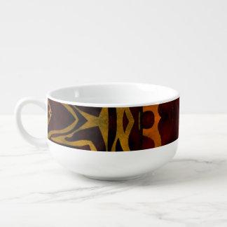 Abstrakt för sebrakatttassar mugg för soppa