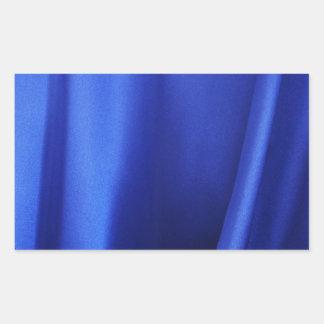 Abstrakt för tyg för flödablåttsilke rektangulärt klistermärke