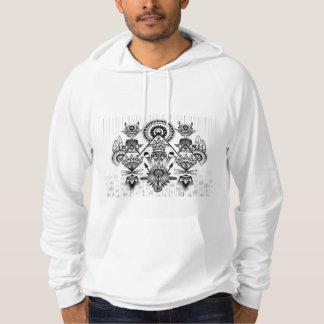 Abstrakt forntida infött indiskt stam- sweatshirt