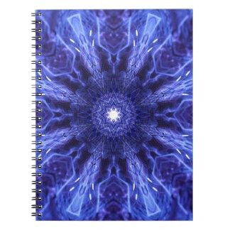 Abstrakt forntida konst för blått anteckningsbok