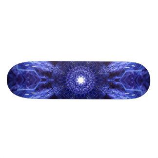 Abstrakt forntida konst för blått mini skateboard bräda 18,7 cm
