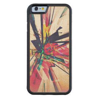 Abstrakt geometri carved lönn iPhone 6 bumper skal