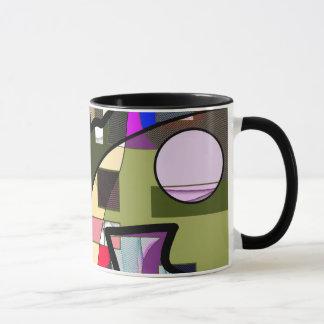 Abstrakt geometrisk modern mugg