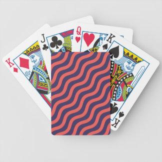 Abstrakt geometriska vinkar mönster spelkort