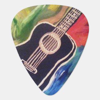 Abstrakt gitarr på gitarr Plektrum