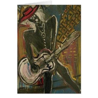 Abstrakt gitarrist V Hälsningskort
