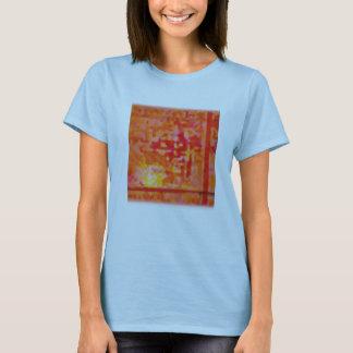 abstrakt glöd tee shirts