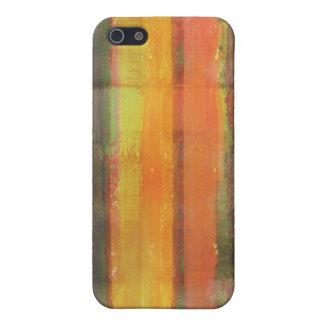 Abstrakt görad randig färgkonst iPhone 5 fodraler