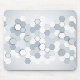 Abstrakt grå färg-/blåttsexhörningar musmatta