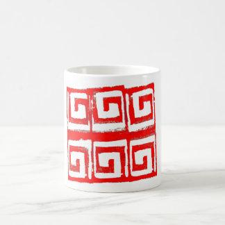 abstrakt grafisk designmugg 002 kaffemugg
