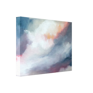 Abstrakt grått med rosa konst canvastryck