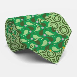 abstrakt grön mönstertie slips