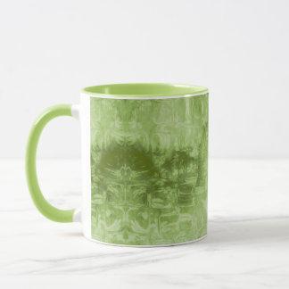 Abstrakt grön struktur mugg