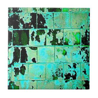 Abstrakt grön tegelsten kakelplatta