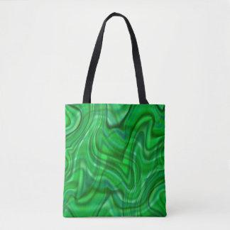 Abstrakt grönt virvlar runt design tygkasse