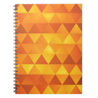 Abstrakt gula trianglar anteckningsbok med spiral