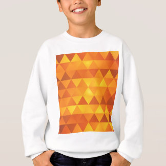 Abstrakt gula trianglar t-shirts