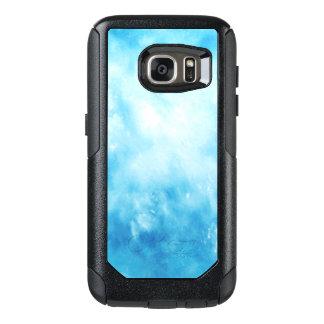 Abstrakt hand plockadevattenfärgbakgrund: Blått OtterBox Samsung Galaxy S7 Skal
