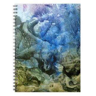 Abstrakt havsgrundanteckningsbok anteckningsbok