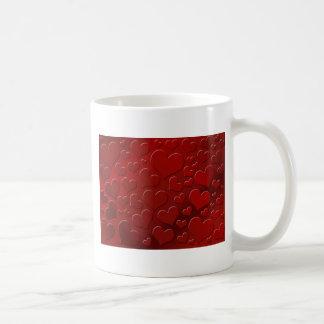 Abstrakt hjärtor III Kaffemugg