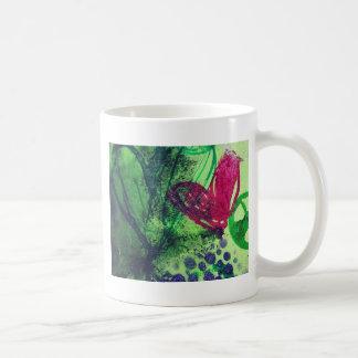 Abstrakt hjärtor kaffemugg