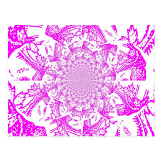Abstrakt/hypnotisk Digital konst Vykort