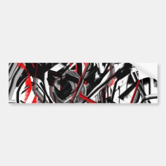 Abstrakt i grått, rött och svart bildekal